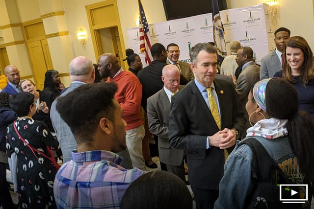 Governor Ralph Northam at NSU